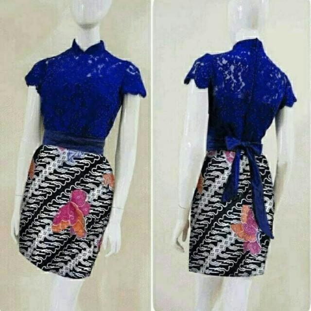 Tribal Mischa Turtleneck Dress brokat prada lapis furing kerah turtle blkg  sleting + rok katun batik super + obi pisah fit to L 1f2f9b0045