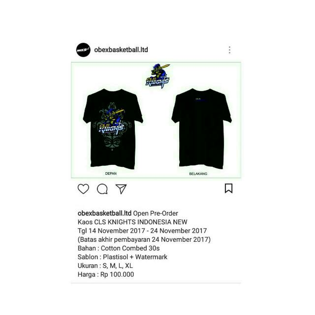 T-SHIRT CLS KNIGHTS (NEW LOGO)