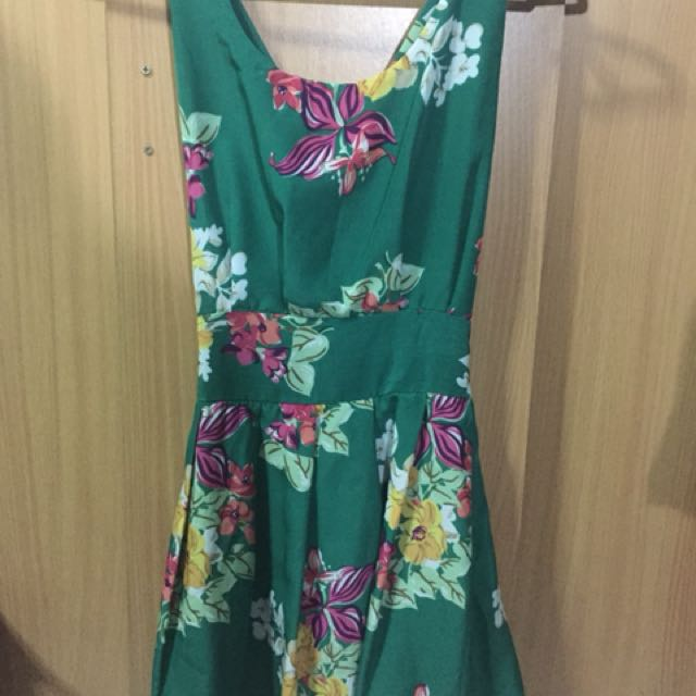 Unbranded Green Floral Dress
