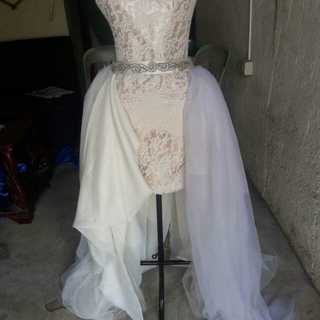 Used wedding gown, Preloved Women\'s Fashion, Clothes on Carousell