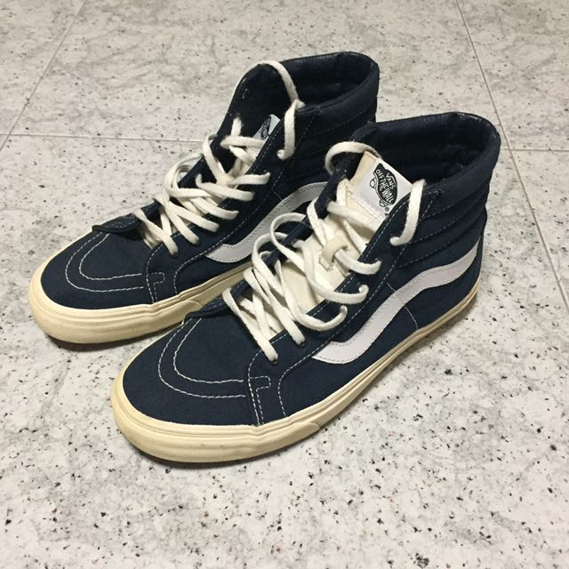 Us10 Skool Vans Navy High Men's Footwear Cut Fashion Vault Old xqfwfEYH
