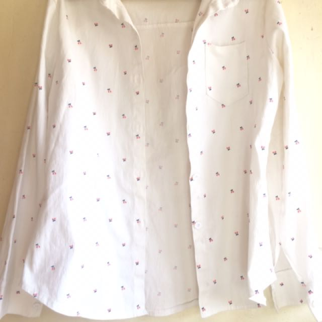 White Collared Polo Blouse
