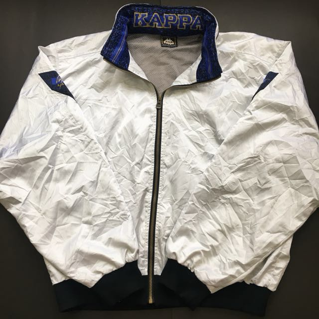 WHITE KAPPA WINDBREAKER