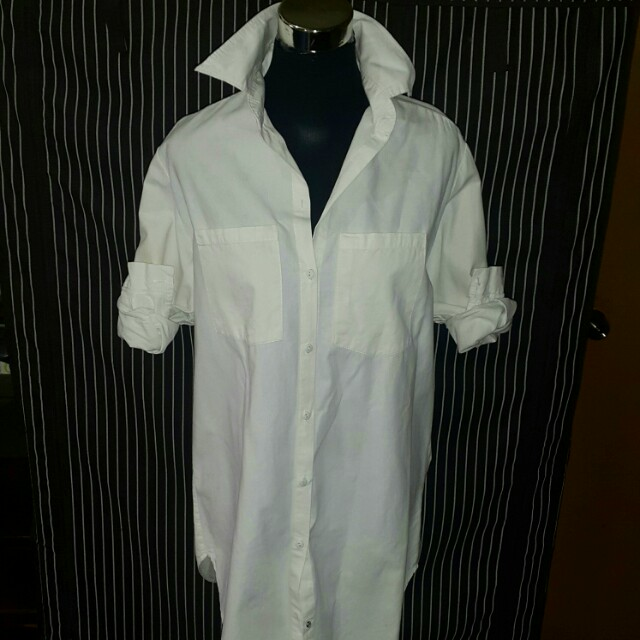 White Polo Shirt Dress