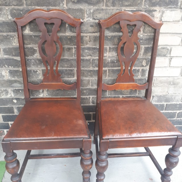 wooden antique chairs x 4