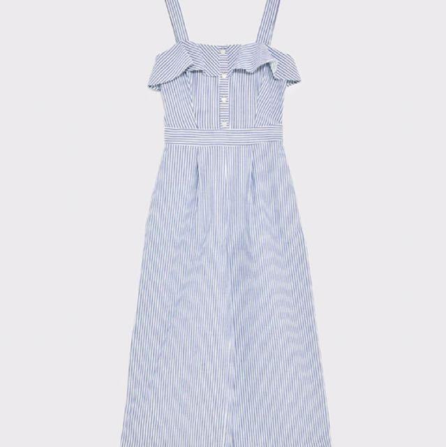 73dc1de618e Zara jumpsuit - blue and white striped