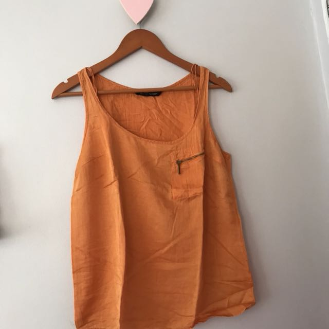 Zara sleeveless top witg zipped pocket detail