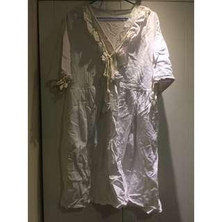 白色上衣(洋裝)波西米亞風