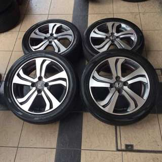 Original honda city v-specs 16 sports rim tayar 70%
