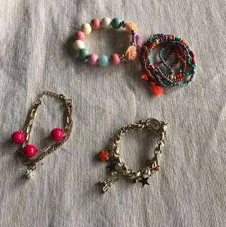 Assorted bracelets ( all for $10)