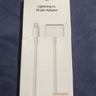 原裝Apple lightning to 30-pin adapter