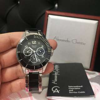 ALEXANDER CHRISTIE WATCH CHROMO MONOCHROME