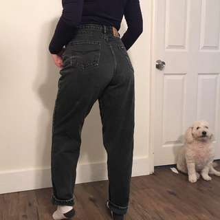 HIGH WAISTED WASHED OUT BLACK DENIM BY JORDACHE