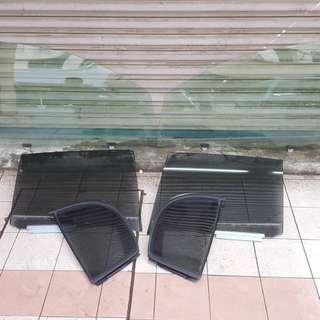 Cermin pintu kromax hijau hitam UV PROTECTION original Japan suitable for MYVI LAGI BEST/ICON/ADVANCE