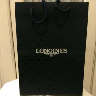 全新LONGINES浪琴專櫃大紙袋