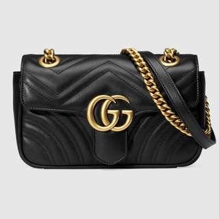 Gucci, Marmont Matelassé Mini Bag Black