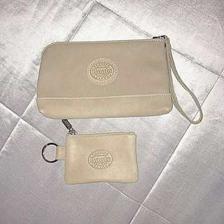 Roots Wristlet and Change Pouch (AUTHENTIC)