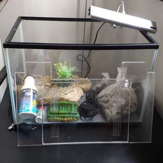 Turtle tank set