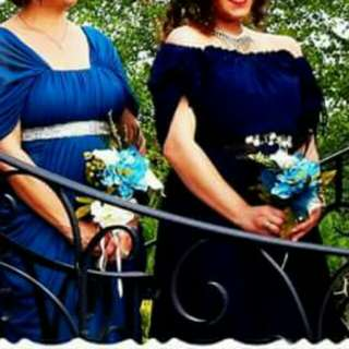 FAIRLY NEW PURCHASED Bridesmaids Gowns & Grooms Collered shirts