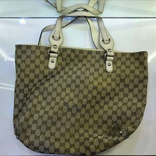 *Authentic*Totes Gucci Bag Brown White