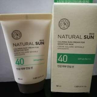 BN The Face Shop Calming Sun Cream Sensitive Skin