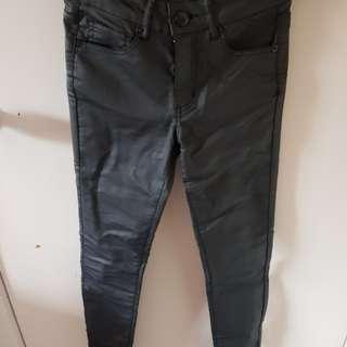 Brand new w/tag Decjuba faux leather skinny jeans.
