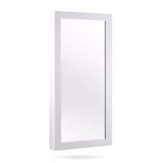 Wall Mount Jewellery Cabinet w/ Mirror White SKU: JE-CA-ROTAT-WH