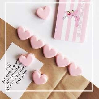 Mini Pink Hearts Paper Clips