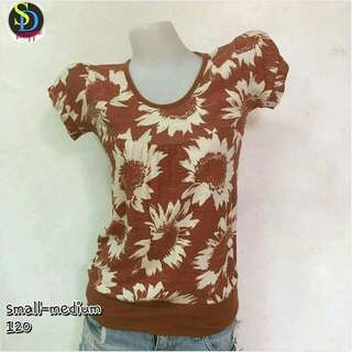 Floral Brown Top