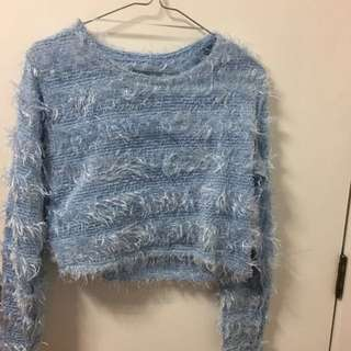 Crop fluffy jumper