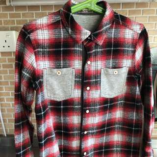 Gingersnaps Checkered Winter Shirt for boys size 6