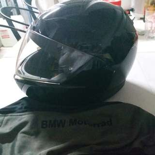 Price Reduce: BMW Motorcycle Helmet (M-Size) 2 way Half Face or Full Face