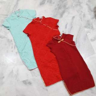 Girl Cheongsam (Bright Red SOLD)