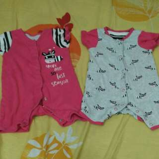 Mothercare rompers baby girl