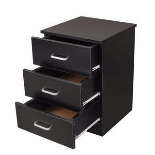 Brand new 3 Drawers Bedside Chest - ( Black / White)