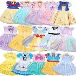Disney style toddler princess dresses