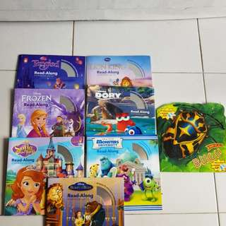 7 read along story books and cd