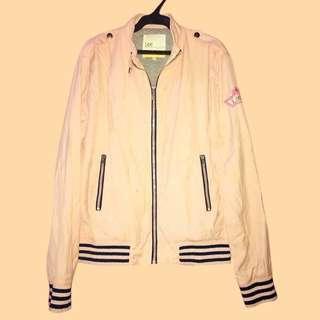 LEE PIPES Pastel Pink Bomber Jacket
