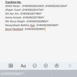 [NOTICE] Tracking numbers for all DVD buyers only