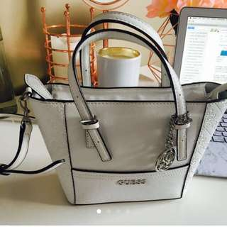 White Guess cross body bag