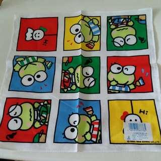 keroppi 青蛙仔日本絕版1989年手巾仔
