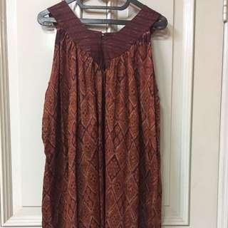 Thai Silk Dress Motif Ikat