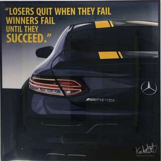 Mercedes Benz wall art