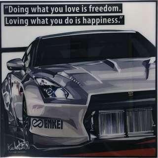 GTR wall art