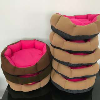 NEW (large dark pink) cushion bed pet dog kitten puppy cat