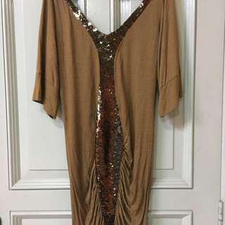 Sequined Tshirt Dress From Bali
