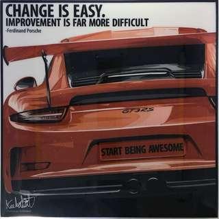 Porsche wall art