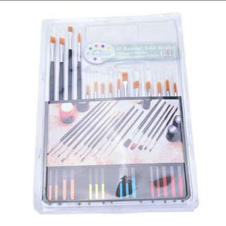 15x All purpose brushes set for water color arts, acrylic supply painting