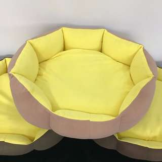 NEW (large yellow) cushion bed pet dog kitten puppy cat