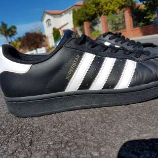 * Adidas Superstar Foundation Black Shoes *